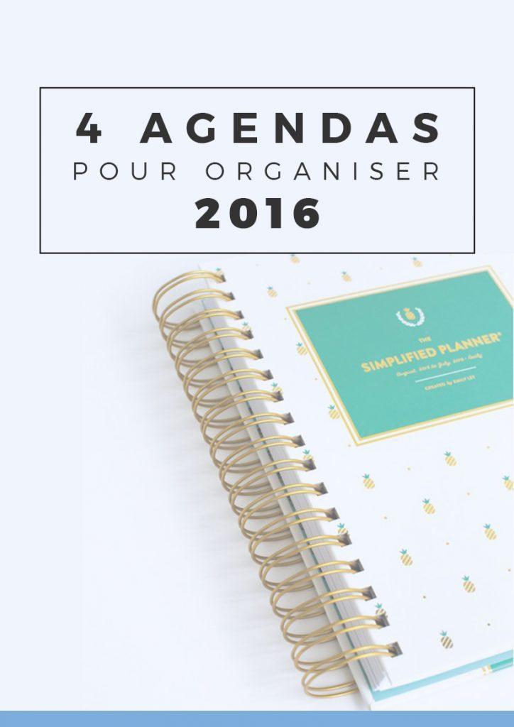 4 superbes agendas pour organiser son année 2016 au top | Si vous cherchez votre nouvel agenda ou planner 2016, que vous aimez vous organiser avec de jolies fournitures, ces agendas à spirale sauront vous combler ! Epinglez pour plus tard ou cliquez pour lire tout de suite !