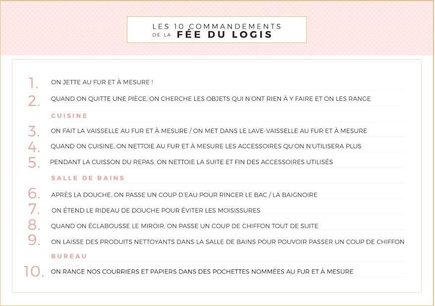 10 astuces pour une maison toujours rang e printable blog du dimanche. Black Bedroom Furniture Sets. Home Design Ideas