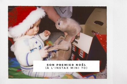 Son premier Noël à l'Instax Mini 70