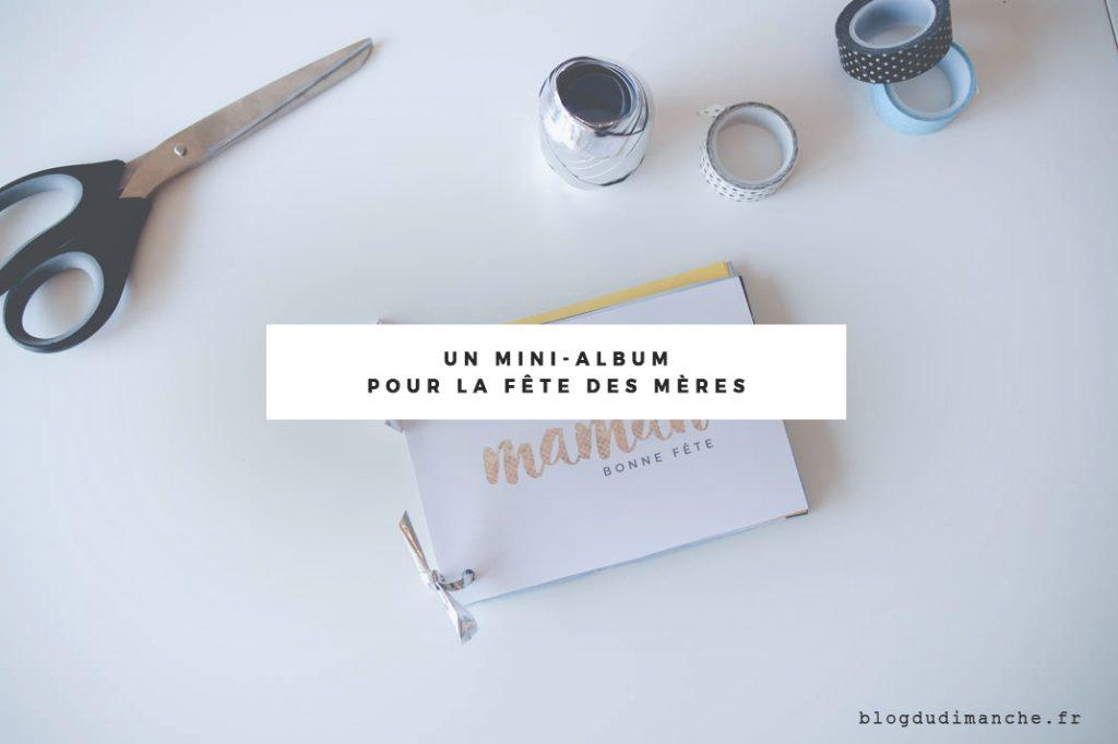 Un mini-album fait main pour la fête des mères