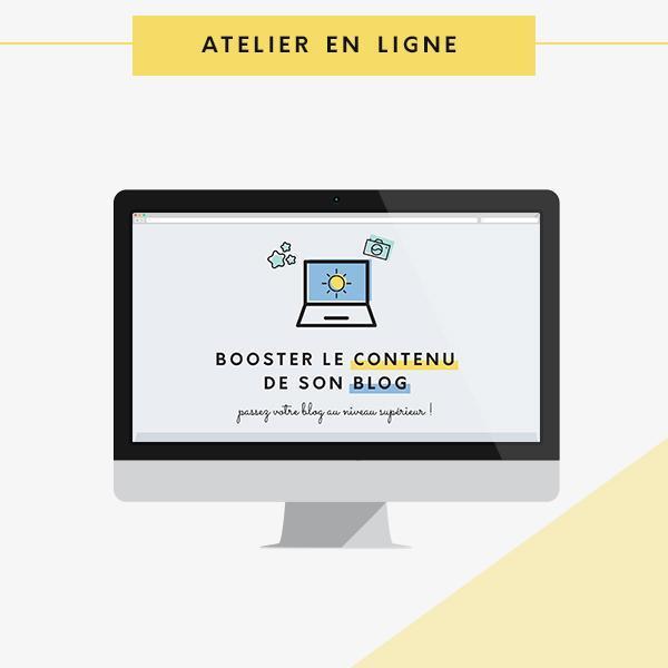 Atelier à suivre en ligne booster le contenu de son blog et sa rédaction web