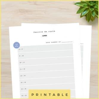 Feuilles de route et semainier à imprimer pour organiser sa semaine