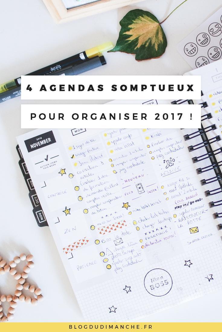 4 agendas somptueux pour organiser 2017 comme un chef
