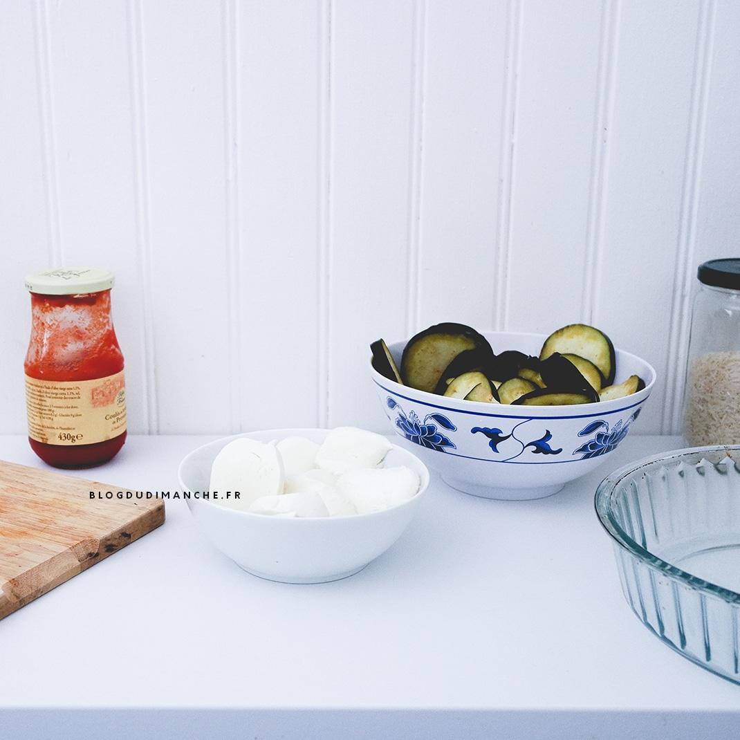 Recette gratin d'aubergines mozzarella coulis de tomate
