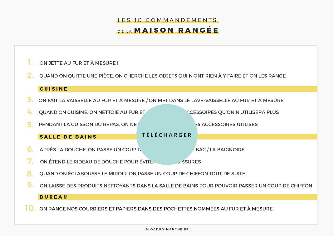 Cuisine 10 Astuces Qui Changent Tout 10 astuces pour une maison toujours rangée (+printable)