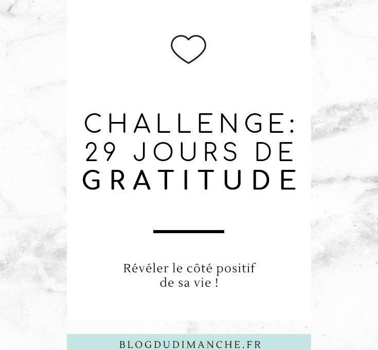 Challenge 29 jours de Gratitude