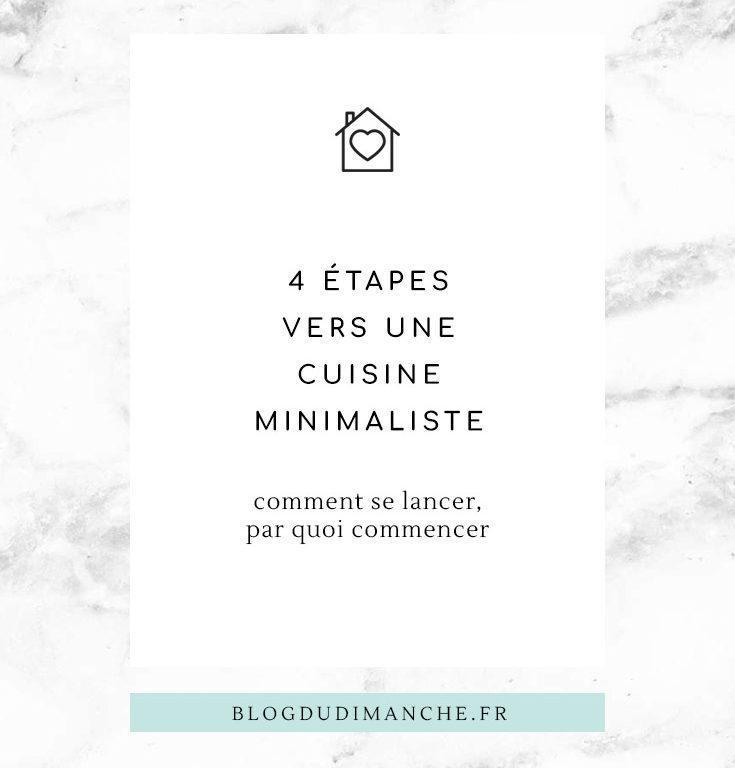 4 étapes vers une cuisine minimaliste