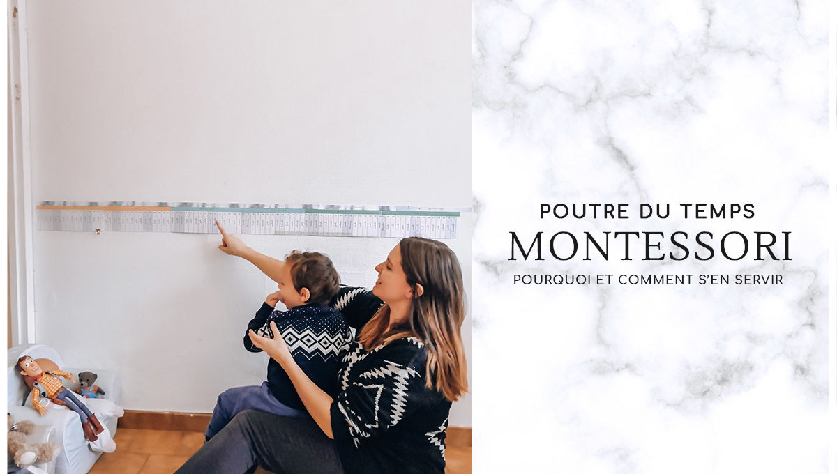 Poutre du Temps Montessori, pourquoi et comment l'utiliser. Fichiers à télécharger dans ce billet